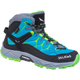 SALEWA Alp Trainer GTX Mid Shoes Kids, blue danube/fluo green